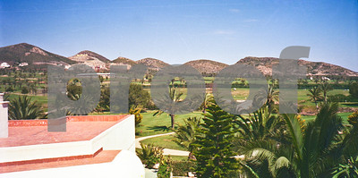 April 1989, View looking over the original La Manga Club Hotel towards the developing North Course and Villas