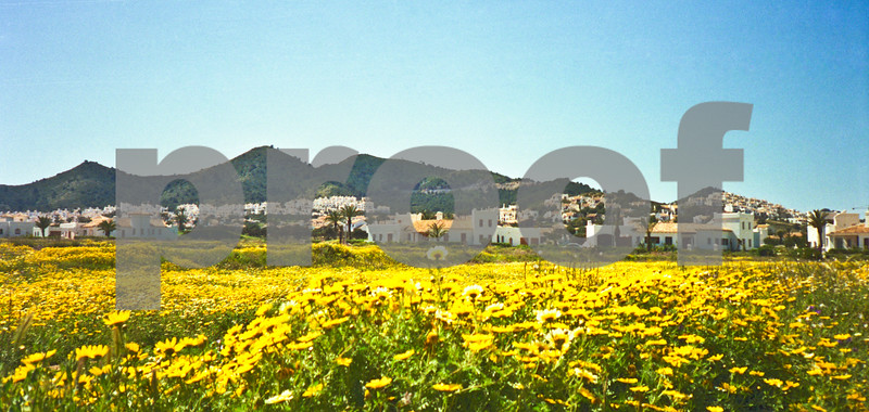 April 1989, Spring at La Manga Club showing South Course Villas with the new developments of Los Molinos in the background