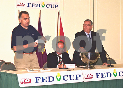 Lorenzo Martinez at the Fed Cup Draw, La Manga Club April 1998