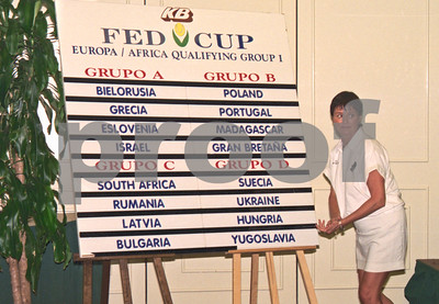 Alison Sowersby at the Fed Cup Draw, La Manga Club April 1998