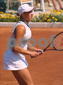 Belarus Olga Barabanschikova at the Fed Cup, La Manga Club, April 1998
