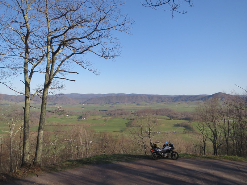 Overlooking Burke's Garden VA from the dirt road on the back side of the mountain
