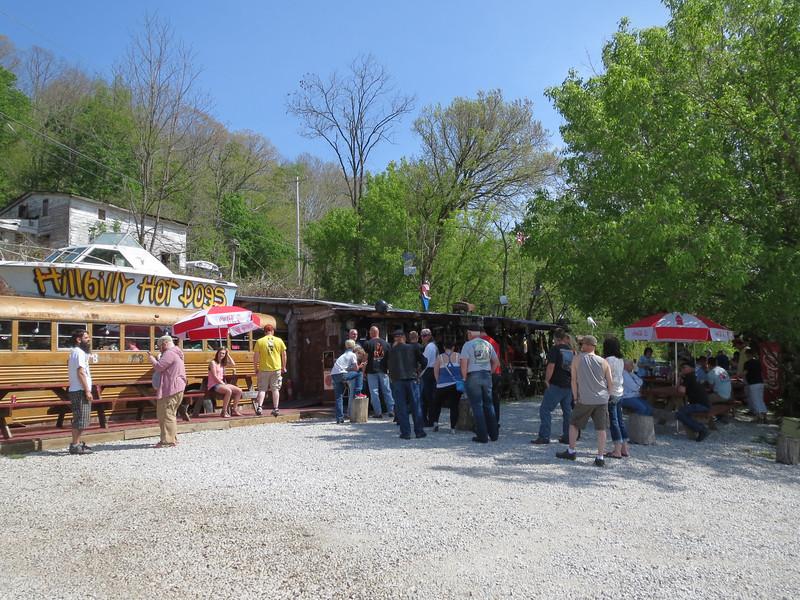 Pirate Fest at Hillbilly Hotdogs near Huntington WV.  I didn't wait in line.