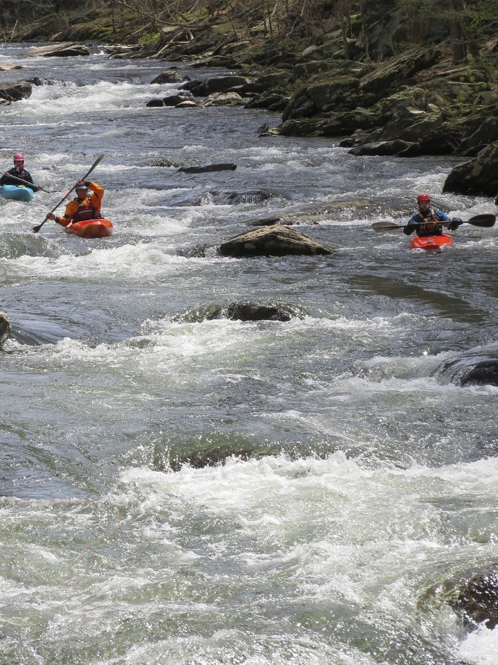 The Tellico River is popular with kayakers.