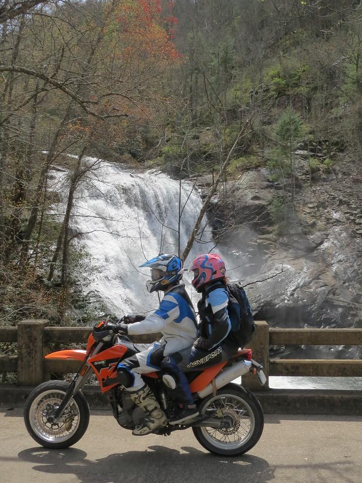 Matt and Rachel in front of Bald River Falls, near Tellico Plains, TN.