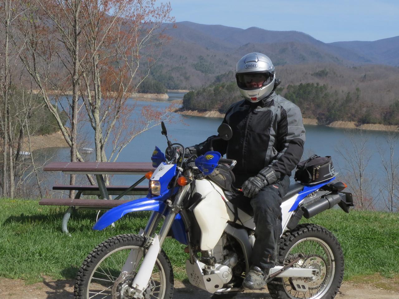 Alan along Fontana Lake, NC.
