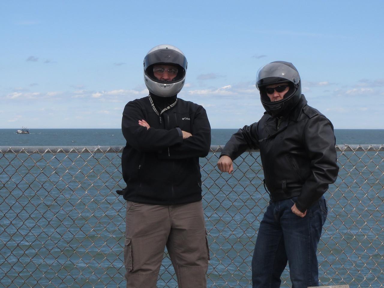 Tom and I on Island #1, CBBT.