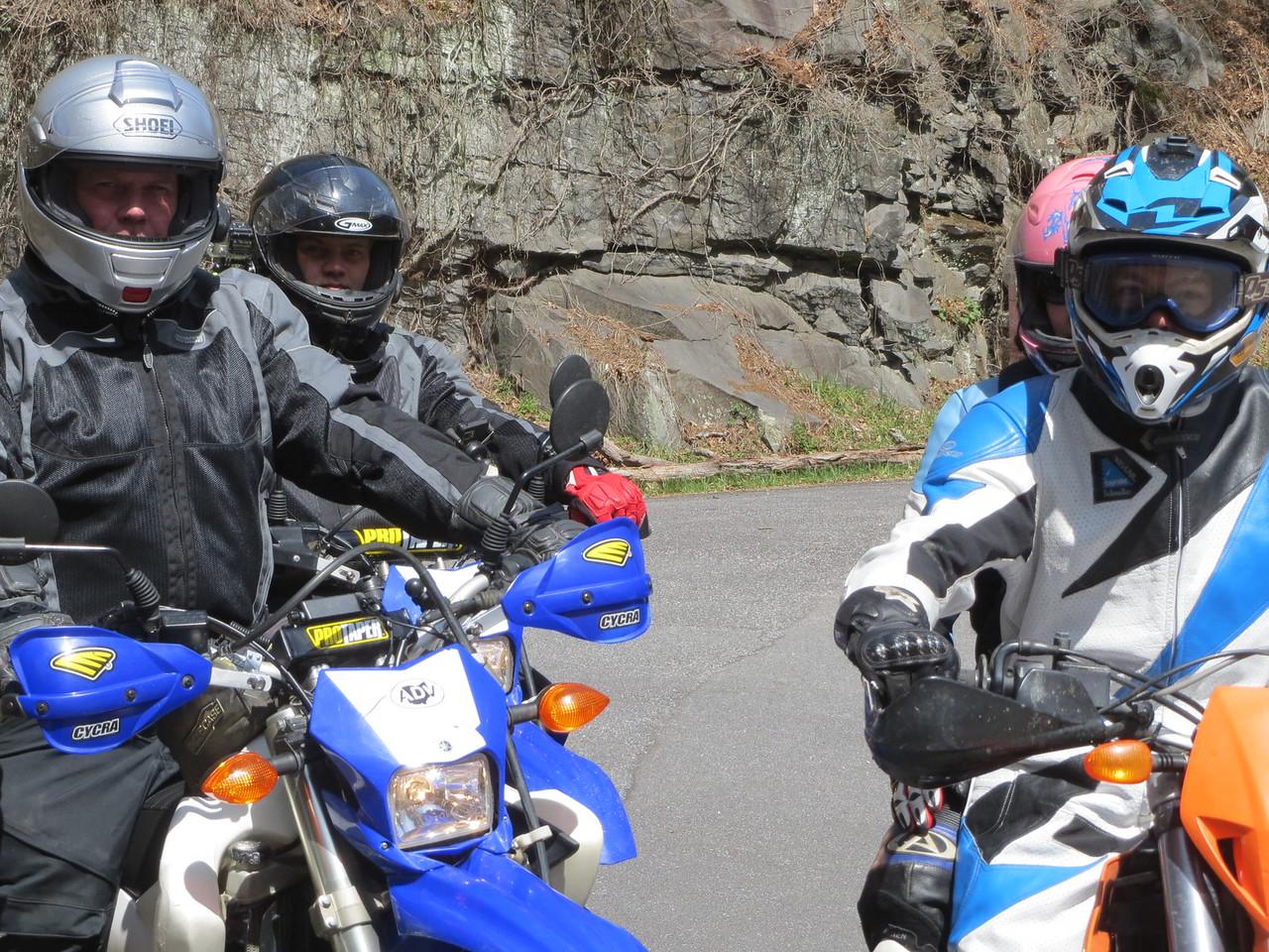 Alan, Kyle, and our local tour guides Matt and Rachel (behind Matt).