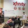 042616   Wesley Bunnell | Staff<br /> <br /> Seniors from Berlin High School took part in a job shadowing program at Comcast in conjunction with Junior Achievement on Tuesday April 26th. Student Kevin Klotz standing spoke about the days experiences with Matt Teter sitting wearing black who is a Senior Manager of Product of Sales.