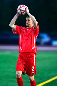 4/2/2016 Mike Orazzi | Staff Connecticut United FC's Connor Archambault (2) during Saturday night's soccer match with the Philadelphia Fury in Willow Brook Park.