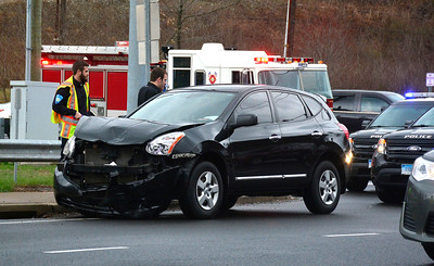 4/2/2016 Mike Orazzi | Staff A two vehicle crash on Route 72 on Saturday afternoon.
