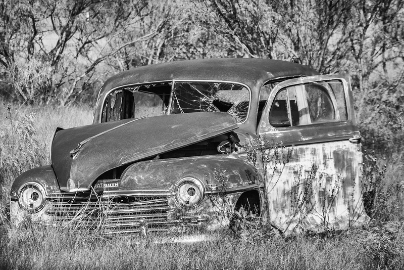 Antique Car BW