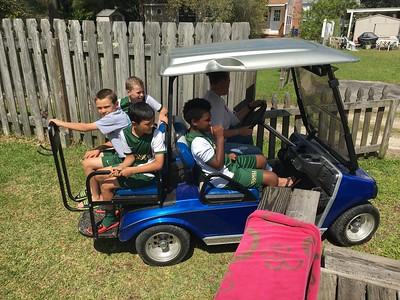 The golf cart!