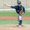 Apr. 29, 2017. Pete Frates High School Baseball Tournament, Fraser Field, Lynn. Ipswich vs. Lynnfield high school baseball. Lynnfield's Justin Juliano delivers a pitch.