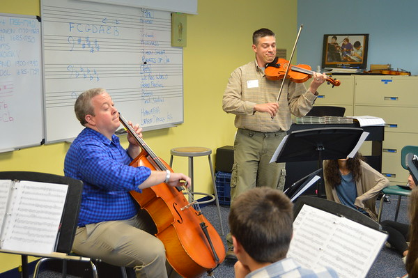 Guest Violinist in Middle School Strings Class