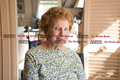 030617  Wesley Bunnell | Staff  Farmington resident Ola Ferla served as an Army Nurse during WWII in Scotland and England.