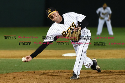 041417  Wesley Bunnell | Staff  New Britain Bees in their second exhibition game of the pre season on April 14 against the Greater Hartford Twilight League All Stars. Chris Hayes (26)