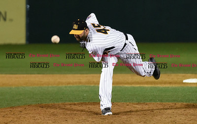 041417  Wesley Bunnell | Staff  New Britain Bees in their second exhibition game of the pre season on April 14 against the Greater Hartford Twilight League All Stars. Joe Beimel (45)