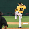 042717  Wesley Bunnell | Staff<br /> <br /> The New Britain Bees vs the Lancaster Barnstormers played on Thursday evening. Casey Coleman (25).