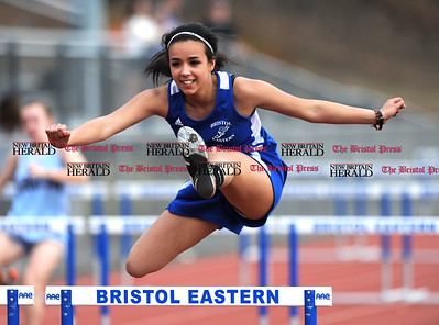4/11/2017 Mike Orazzi | Staff Bristol Eastern's Deja Woods during Tuesday's track meet.