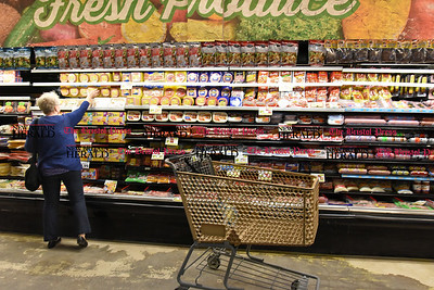 041817  Wesley Bunnell | Staff  Beatrice Crumb shops in America's Food Basket which recently opened at 250 Allen St in New Britain. A grand opening is planned for later in the month.