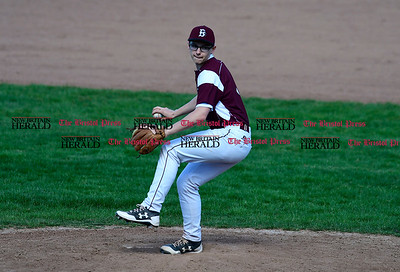 4/18/2017 Mike Orazzi | Staff Bristol Central's Alex Balfour (4) at BC on Tuesday.