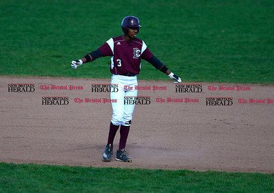 4/18/2017 Mike Orazzi | Staff Bristol Central's Dathan Hickey (3) at BC on Tuesday.