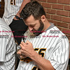 041817  Wesley Bunnell | Staff<br /> <br /> The New Britain elks Lodge 957 held their 35th Annual Welcome Baseball Dinner featuring The New Britain Bees on Tuesday evening. Pitcher Joe Beimel (45) signing an autograph.
