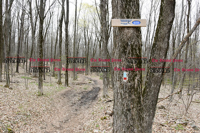 042017  Wesley Bunnell   Staff  Hiking trails at Ragged Mountain Memorial Preserve in Berlin.