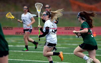 4/26/2017 Mike Orazzi | Staff Bristol Coop Girls Lacrosse Meghan Hamel (15) during Wednesday's game with Northwest Catholic at Bristol Eastern.