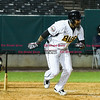 042617  Wesley Bunnell | Staff<br /> <br /> New Britain Bees vs Lancaster Barnstormers on Wednesday evening. Jamar Walton (6) with a base hit.