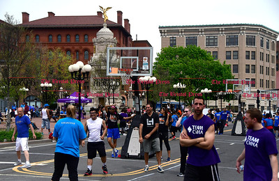 4/29/2017 Mike Orazzi | Staff The action in downtown New Britain during the Hoops for Homeless event Saturday.