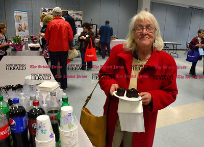 3/26/2016 Mike Orazzi | Staff Elaine Screen during the second annual Connecticut Prime Time Senior Fair held at Bristol Eastern High School Saturday.