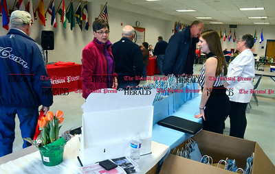 3/26/2016 Mike Orazzi | Staff Myranda LaPira and Joanne Callaghan at the Bristol Hearing Aids table during the second annual Connecticut Prime Time Senior Fair held at Bristol Eastern High School Saturday.