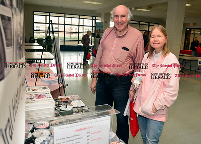 3/26/2016 Mike Orazzi | Staff Aaron Elson and Valarie Boucher during the second annual Connecticut Prime Time Senior Fair held at Bristol Eastern High School Saturday.