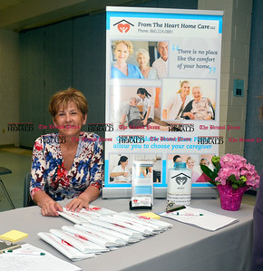 3/26/2016 Mike Orazzi | Staff From the Heart Home Care's Eva Puzio during the second annual Connecticut Prime Time Senior Fair held at Bristol Eastern High School Saturday.