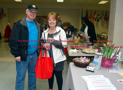 3/26/2016 Mike Orazzi | Staff Royce and Claudette Lloyd during the second annual Connecticut Prime Time Senior Fair held at Bristol Eastern High School Saturday.