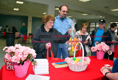 3/26/2016 Mike Orazzi | Staff Jean Myska and her son Rick during the second annual Connecticut Prime Time Senior Fair held at Bristol Eastern High School Saturday.