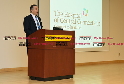 040517  Wesley Bunnell | Staff  The Hospital of Central Connecticut held its Annual Chairman's Donor Recognition Reception on Wednesday night. HHC Central Region Chairman of the Board Joseph Voelker gives the opening remarks.