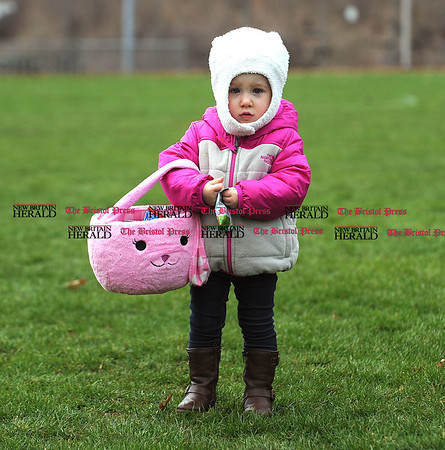 4/7/2017 Mike Orazzi | Staff Charlotte Potash during the Berlin Parks and Recreation Department's annual Easter Candy Hunt Saturday afternoon.