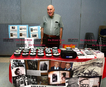 4/7/2017 Mike Orazzi | Staff Aaron Elson during The Bristol Press & New Britain Herald and Connecticut Prime Time's 3rd Annual Senior Fair held at Bristol Eastern High School Saturday.