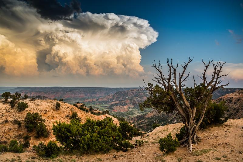 Palo Duro Canyon Stormy Sky