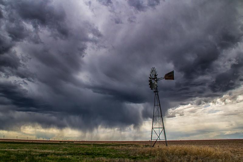 Stormy Skies Near Spearman