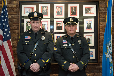 04/02/18  Wesley Bunnell | Staff  The Berlin Police held a promotion ceremony on April 2nd at town hall for the newly appointed Lt. Michel Jobes, L, and Sgt. John Flynn.