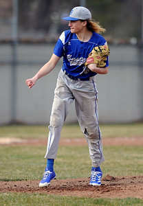 4/5/2018 Mike Orazzi | Staff Bristol Eastern High School's Jagger Duquette (16) Thursday afternoon in Plainville.