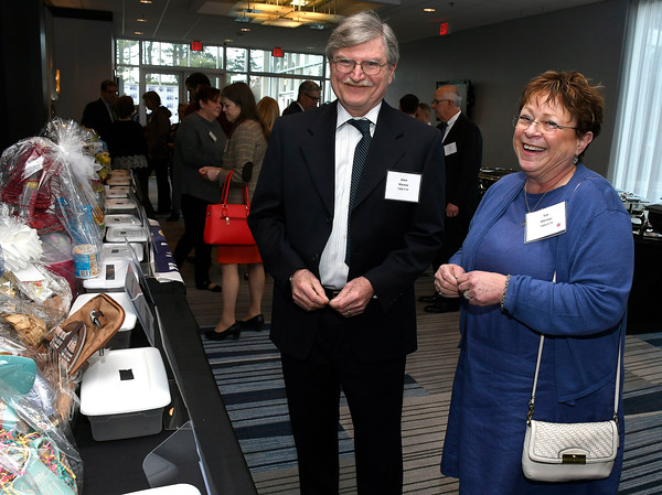 4/5/018 Mike Orazzi | Staff Mark and Susan Moreau during the United Way of West Central Connecticut's 16th Annual Community Builders' Reception Thursday night.