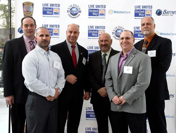 4/5/018 Mike Orazzi | Staff Members of the Bristol Police Department during the United Way of West Central Connecticut's 16th Annual Community Builders' Reception Thursday night.