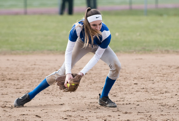 04/09/18 Wesley Bunnell | Staff Southington softball defeated Bristol Eastern 6-1 at Southington High School on Monday afternoon. Jordan Fitzsimons (10)
