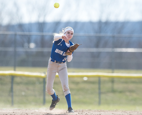 04/09/18 Wesley Bunnell | Staff Southington softball defeated Bristol Eastern 6-1 at Southington High School on Monday afternoon. Jordan Fitzsimons (10).