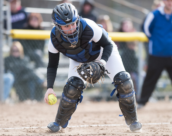 04/09/18 Wesley Bunnell | Staff Southington softball defeated Bristol Eastern 6-1 at Southington High School on Monday afternoon. Katelyn Lipsky (11).